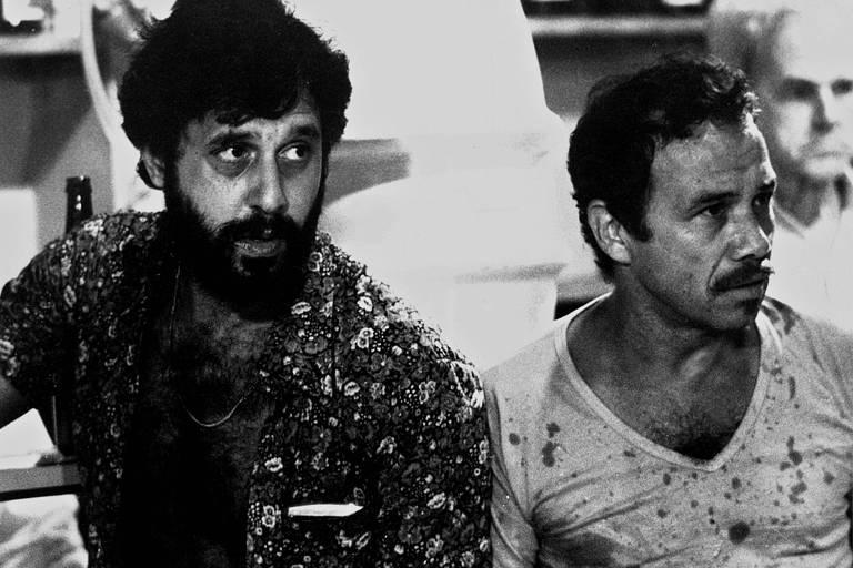 """Antonio Fagundes e Stênio Garcia na primeira versão de """"Carga Pesada"""""""