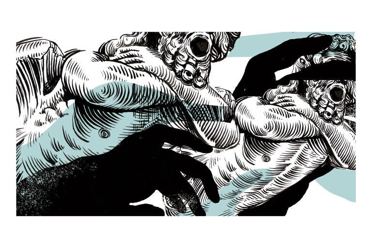 Ilustração de Ricardo Cammarota para colunade Pondé de 27.mai.2019