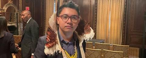 Índio Luiz Eloy na Bolsa de NYC ORG XMIT: z6Sr_jYcXC-AAEXZ5sjL