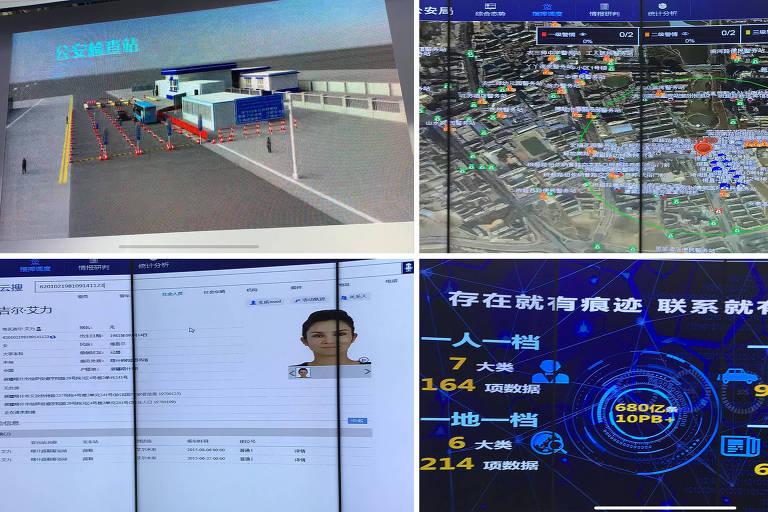 Fotos de apresentações da China Electronics Technology Corporation em uma feira