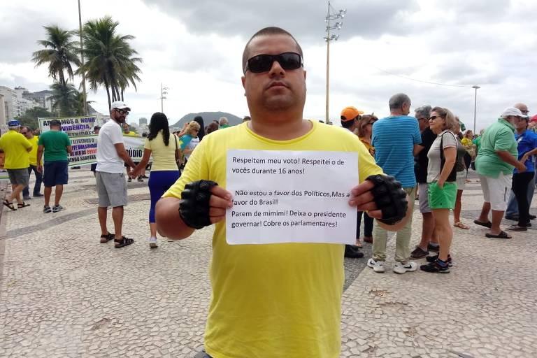 O bancário Jefferson dos Santos, 36, no Rio de Janeiro (RJ)