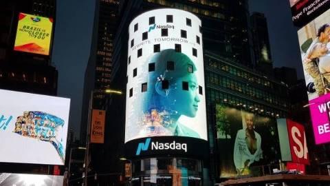 Painel da Nasdaq na Times Square em Nova Iorque