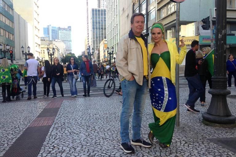 Os empresários Leandro e Deyse Oppitz, em Curitiba