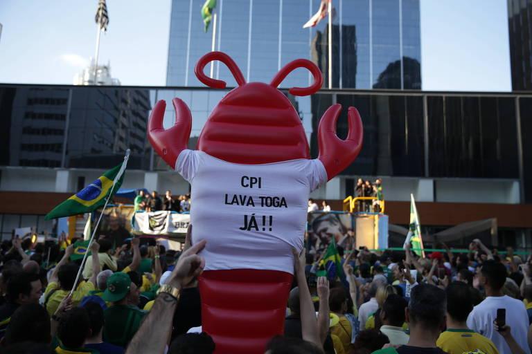 São Paulo faz manifestação a favor de Bolsonaro