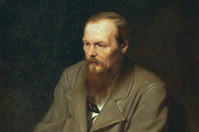 Retrato de Dostoiévski de autoria do pintor russo Vassili Perov, de 1872