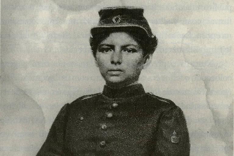 A voluntária Jovita Alves Feitosa, que tentou lutar na Guerra do Paraguai