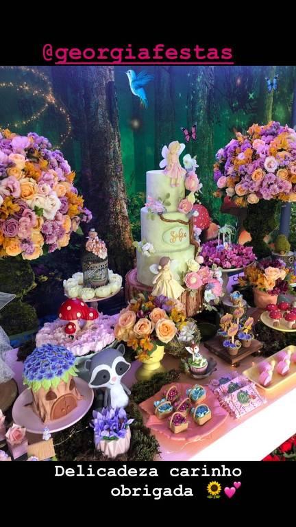 Decoração da festa de Sofia, filha de Grazi Massafera e Cauã Reymond