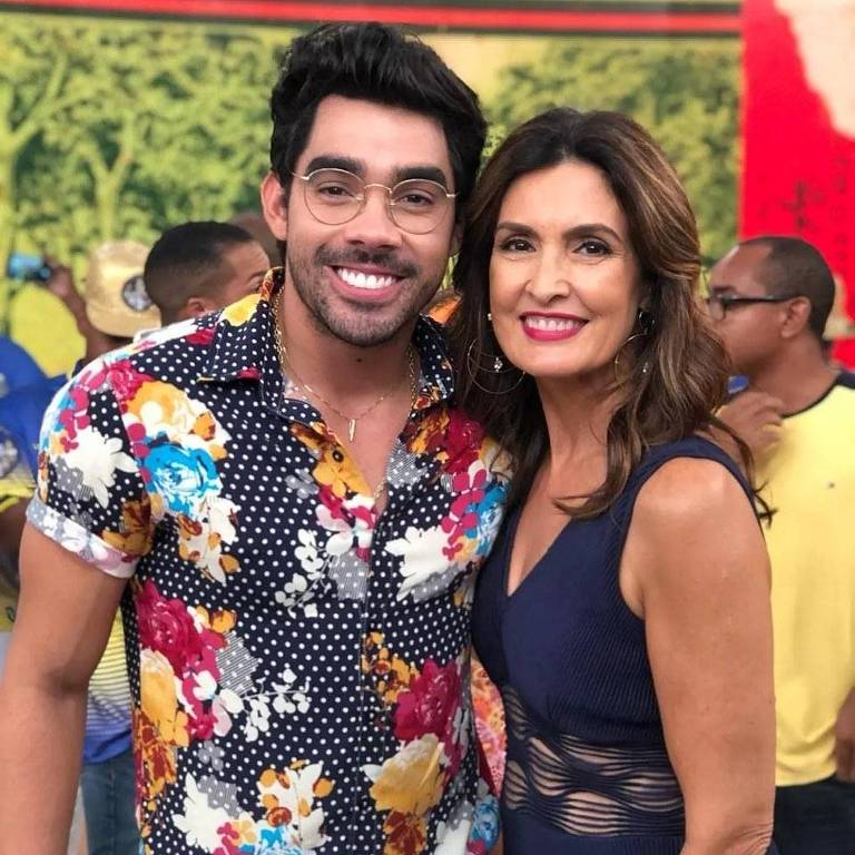Gabriel Diniz e Fátima Bernardes