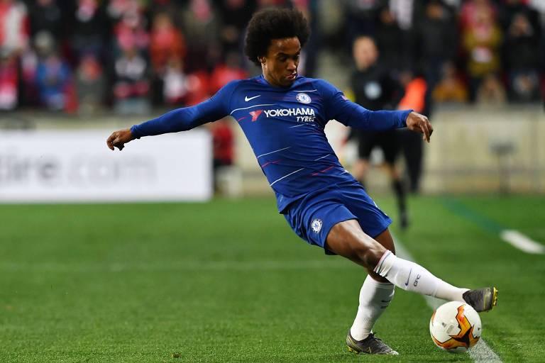 O Chelsea, do brasileiro Willian, é o atual campeão da Liga Europa