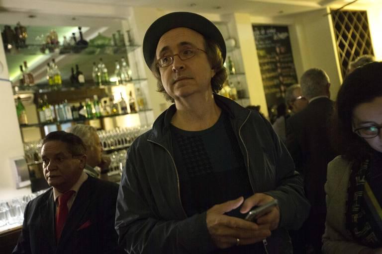 """Reinaldo Azevedo no lançamento do livro """"Meus Começos e Meu Fim"""", de Nirlando Beirão"""