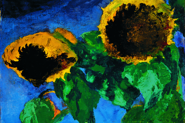 Ripe Sunflowers, 1932, de Emil Nolde | Oil on canvas, 73.5 × 89 cm | Detroit Institute of Arts, Gift of Robert H. Tannahill © Nolde Stiftung Seebüll