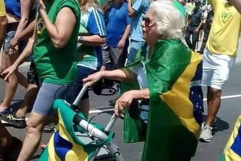 Maria Nina Rattes, morta em 2018, em foto divulgada por Bolsonaro