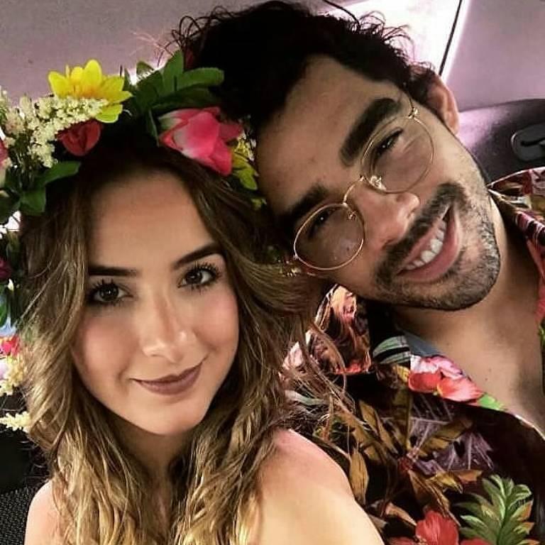 Gabriel Diniz e a namorada Karoline Calheiros