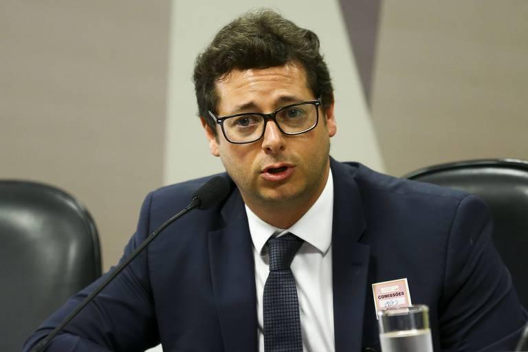 Fabio Wajngarten durante audiência pública no Senado, em maio deste ano