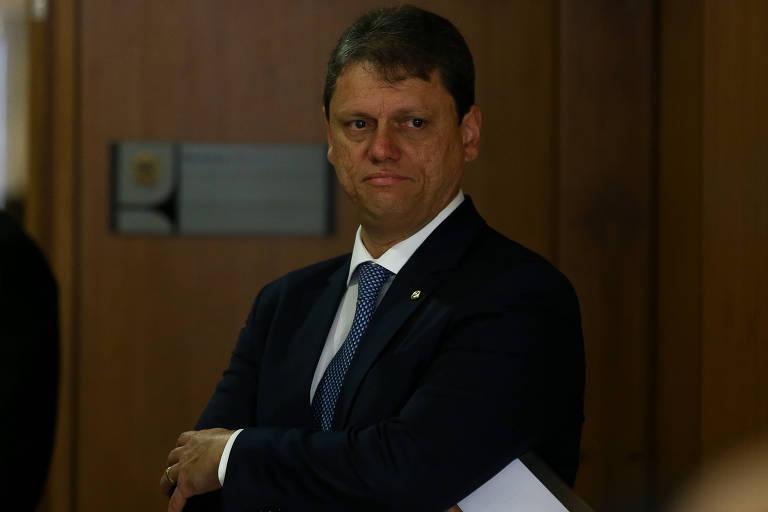 O ministro da Infraestrutura, Tarcísio Freitas