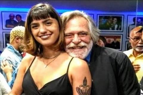 José de Abreu e a nova namorada, Carol Junger, 22 anos, maquiadora