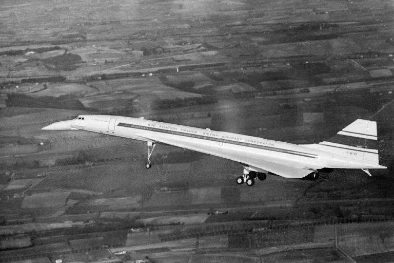 O supersônico Concorde realiza seu primeiro voo de teste, em 2 de março de 1969; avião entrou em operação em 1976 e voou até 2003