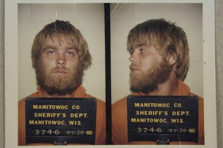 "Steven Avery em foto usada na série documental ""Making a Murderer"""