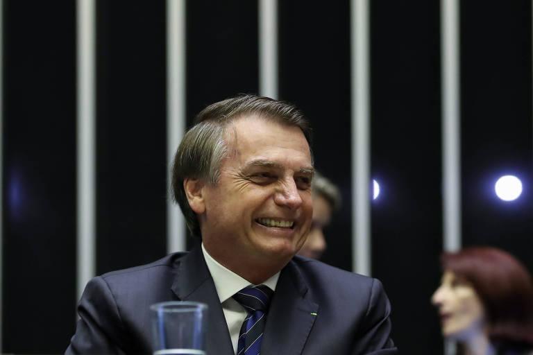 Presidente Jair Bolsonaro participa de homenagem a Carlos Alberto de Nóbrega na Câmara dos Deputados