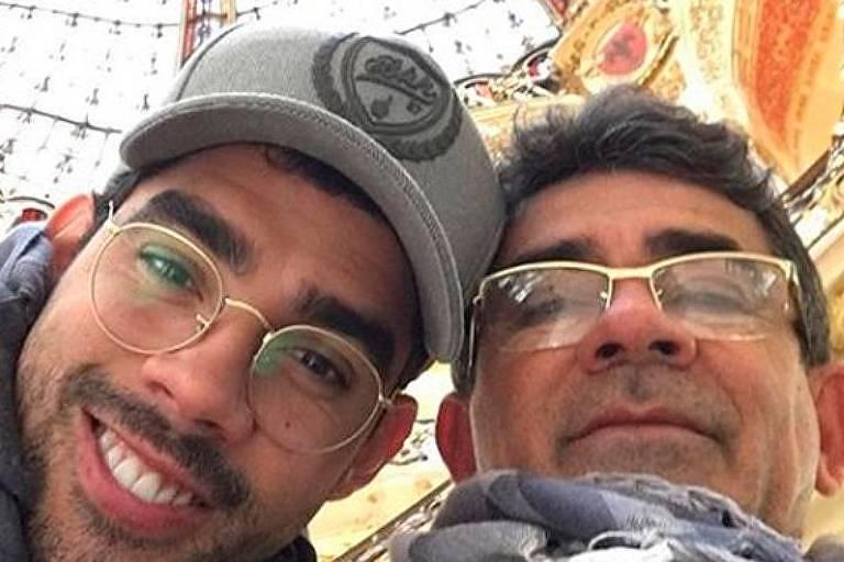Gabriel Diniz com o pai, Cizinato Diniz