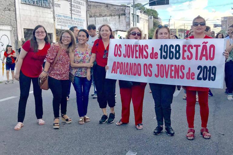 As funcionárias públicas aposentadas Regina Estela Façanha , 73, Aspásia Soares,73, e Ana Tavares, 71