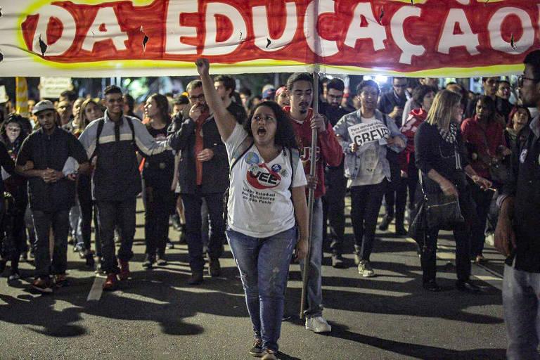 Protesto a favor da Educação em São Paulo