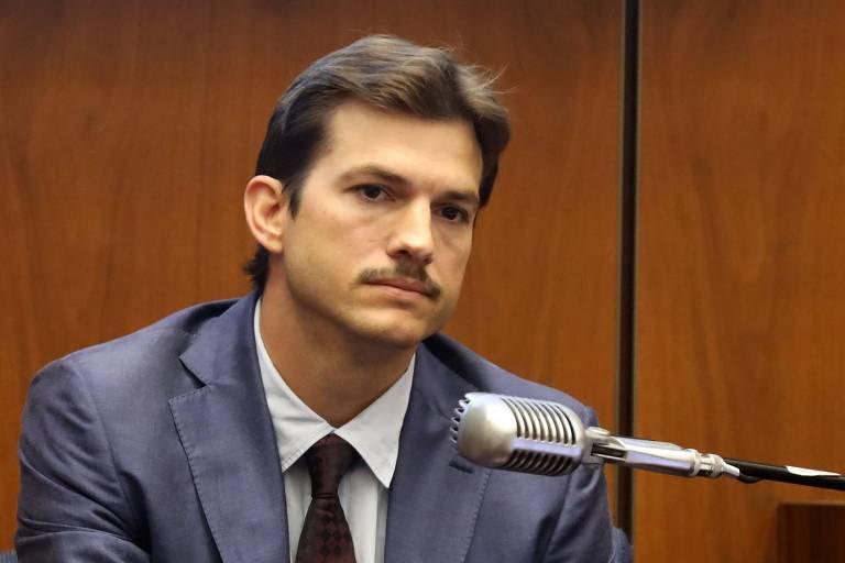 Ashton Kutcher dá seu testemunho sobre o assassinato da amiga Ashley Ellerin
