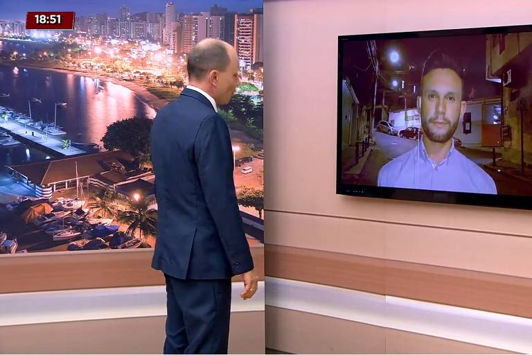 Repórter da Record TV no Espírito Santo fala com apresentador antes de ser ameaçado de morte por supostos criminosos