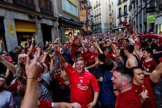 Champions League Final - Tottenham and Liverpool fans arrive in Madrid