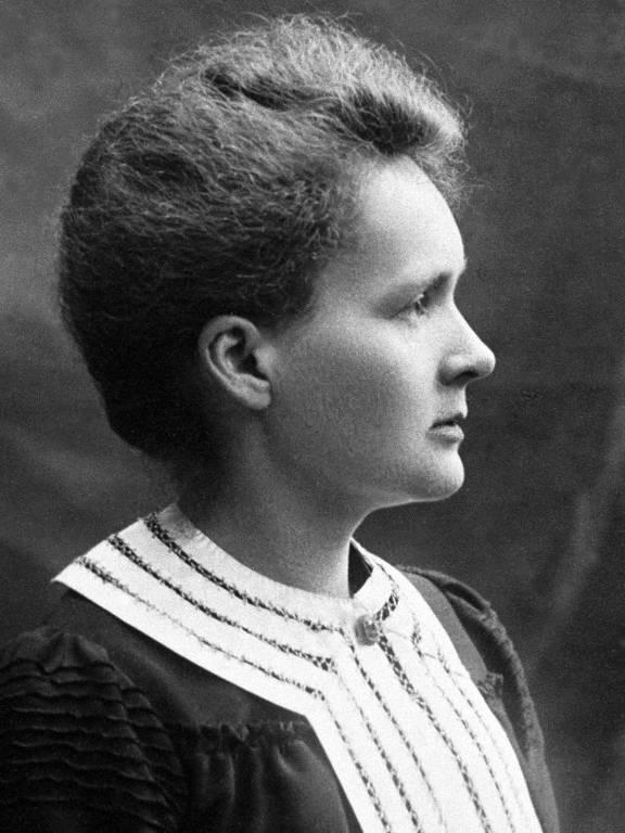 Retrato sem data da cientista Marie Curie