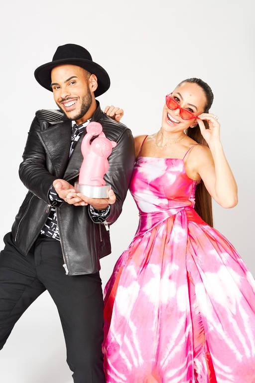 Sabrina Sato e Hugo Gloss: dupla vai apresentar o prêmio MTV MIAW