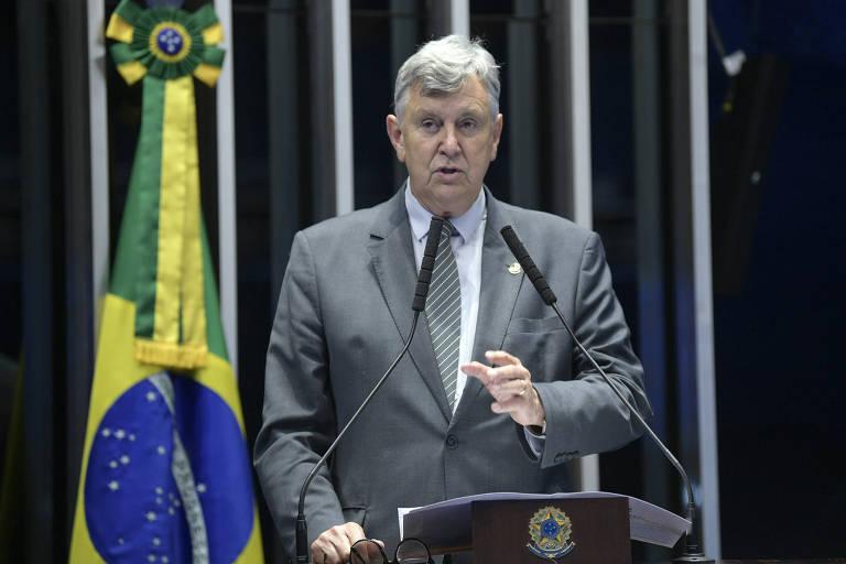 Plenário do Senado Federal durante sessão deliberativa ordinária. Em discurso, à tribuna, senador Luis Carlos Heinze (PP-RS).Foto: Roque de Sá/Agência Senado