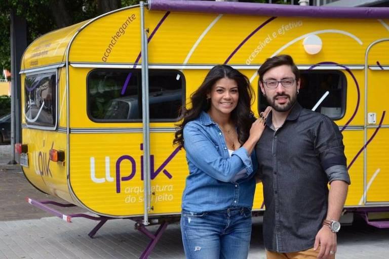 Marcia Milanez e Daniel Alves, sócios da startup Arquiteto de Bolso