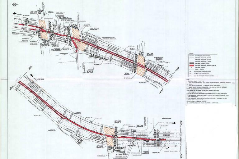 Projeto final da ciclovia da rua Domingos de Morais