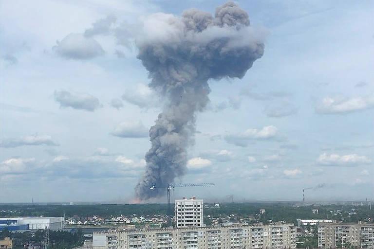 Explosão em fábrica na Rússia