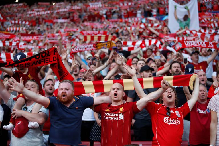 A torcida na final da Champions League 2019