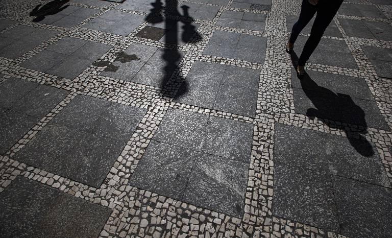 Calçadões de pedra portuguesa, em São Paulo