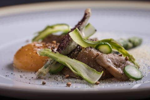 Salada de cogumelos ianomâmi, do D.O.M.