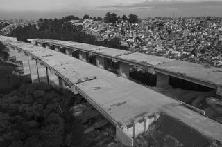 Trecho do Rodoanel Norte, em São Paulo, que apresenta problemas