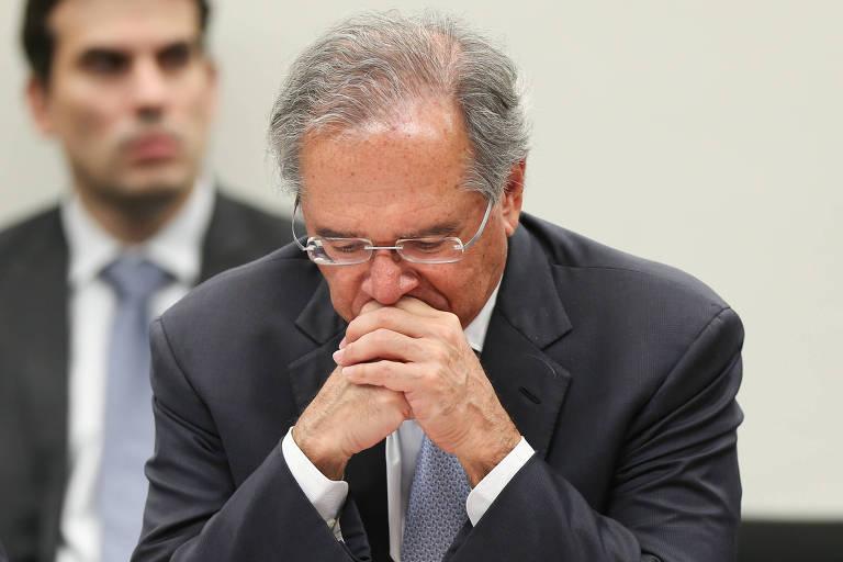 O ministro da Economia, Paulo Guedes, participa de audiência na Comissão de Finanças e Tributação da Câmara dos Deputados, na terça-feira (4)