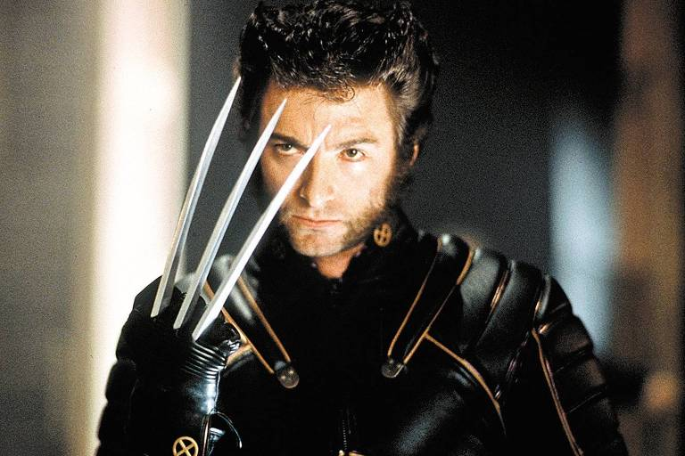 "Hugh Jackman como Wolverine em cena do filme ""X-Men"""