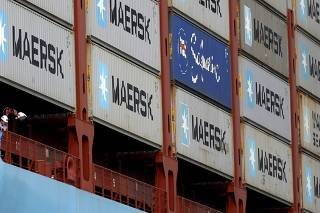 File photo of MV Maersk Mc-Kinney Moller container ship