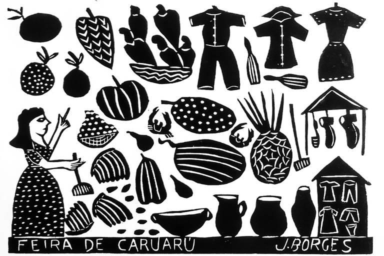 Xilogravura de J. Borges para o São João de Caruaru