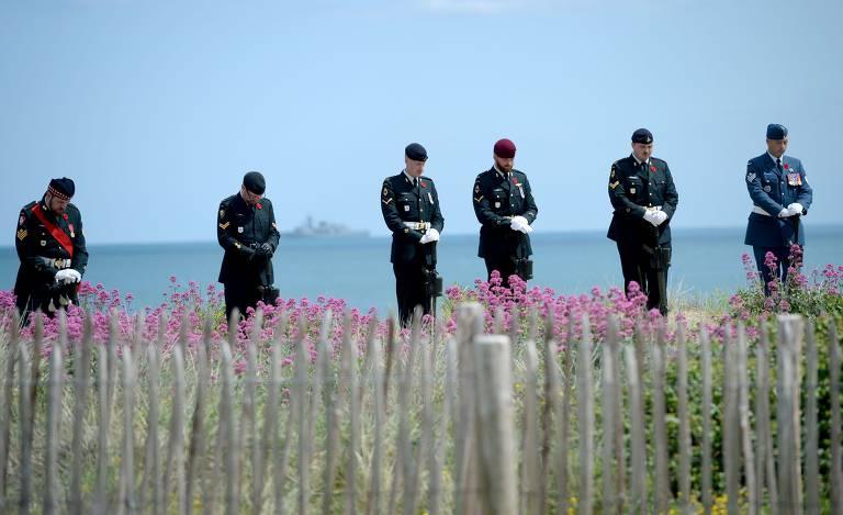 Líderes mundiais e veteranos comemoram na Normandia os 75 anos do Dia D