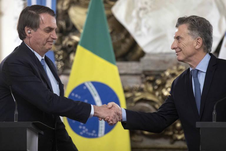Jair Bolsonaro visitou a Argentina em junho
