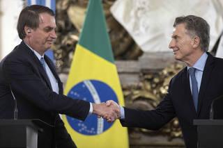 ARGENTINA-BUENOS AIRES-BRASIL-BOLSONARO-VISITA