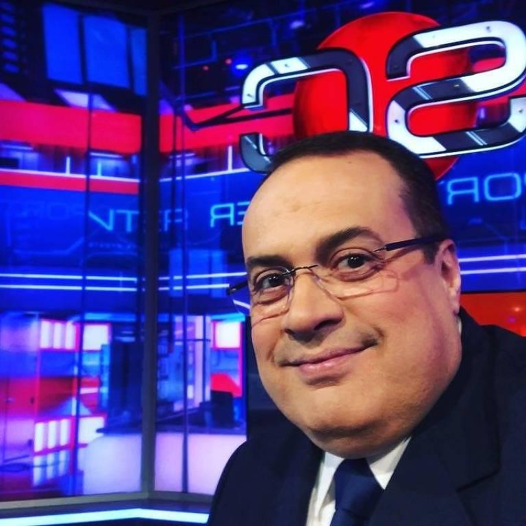Paulo Soares no estúdio da ESPN