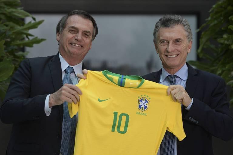 Jair Bolsonaro se encontrou com o presidente argentino Mauricio Macri, em Buenos Aires