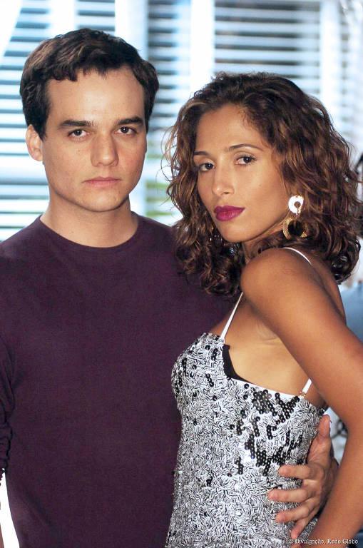 Bebel (Camila Pitanga) e Olavo (Wagner Moura) em Paraiso Tropical (2007)