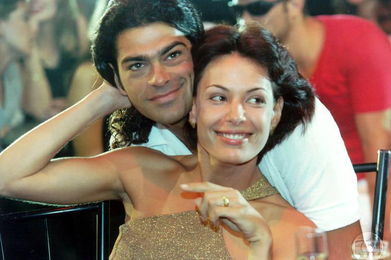 Milena (Carolina Ferraz) com Nando (Eduardo Moscovis) em Por Amor (1997)